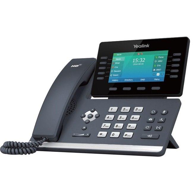 Yealink SIP-T54S IP Phone - Bluetooth - Wall Mountable, Desktop - Charcoal