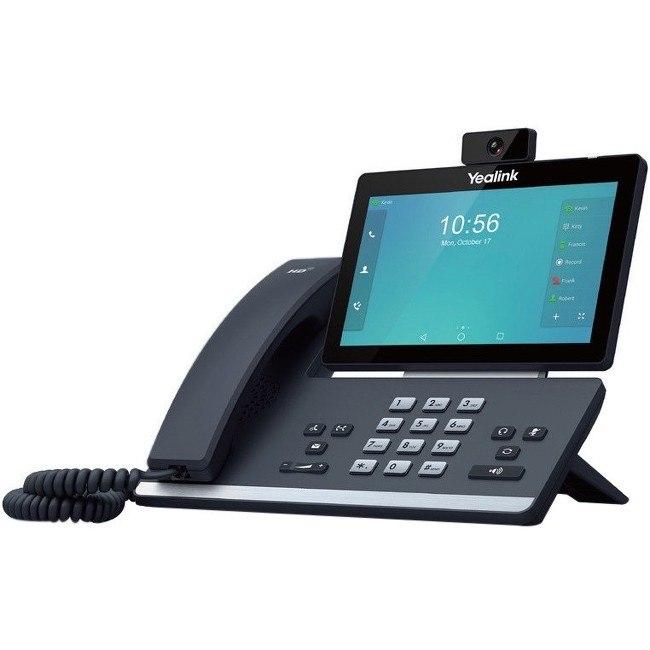 Yealink SIP-T58V IP Phone - Corded - Wi-Fi, Bluetooth - Wall Mountable, Desktop - Black