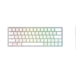 Cooler Master SK622 Gaming Keyboard - Wired/Wireless Connectivity - USB 2.0 Type A Interface - White