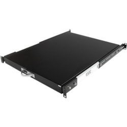 StarTech.com 1U Rack-mountable Rack Shelf for Server - Black - TAA Compliant