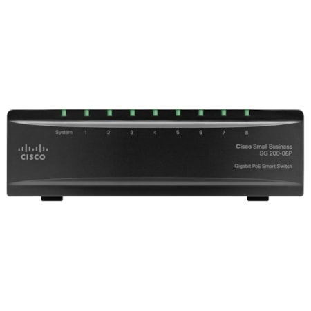 Cisco SG200-08 8 Ports Manageable Ethernet Switch