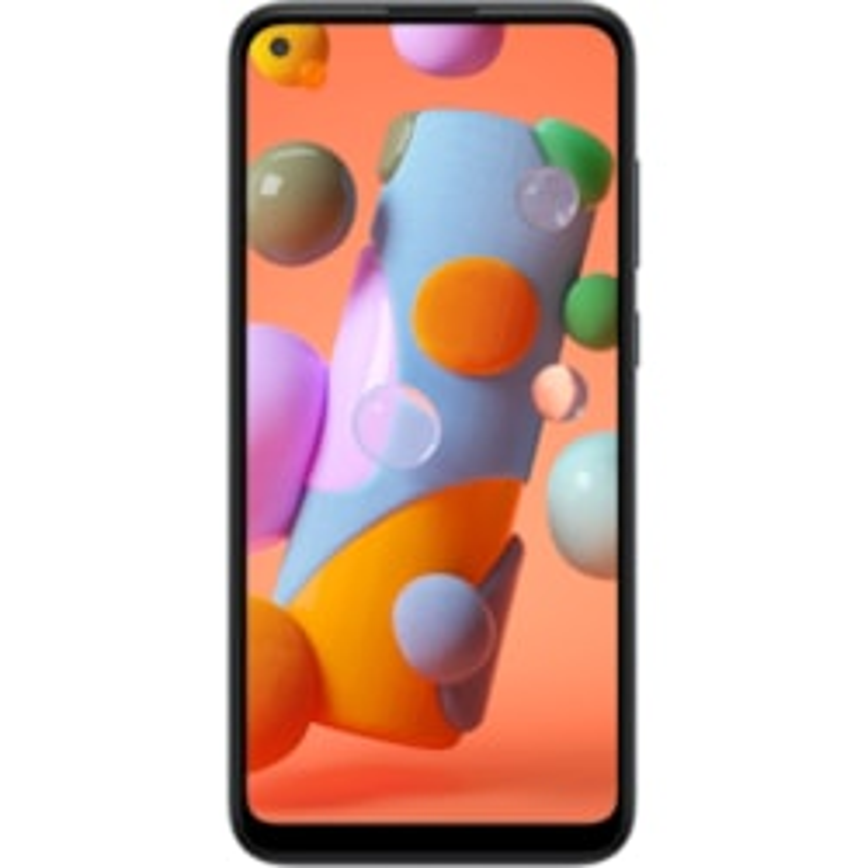 "Samsung Galaxy A11 SM-A115F 32 GB Smartphone - 16.3 cm (6.4"") Active Matrix TFT LCD HD+ 1560 x 720 - 2 GB RAM - Android 10 - 4G - Black"
