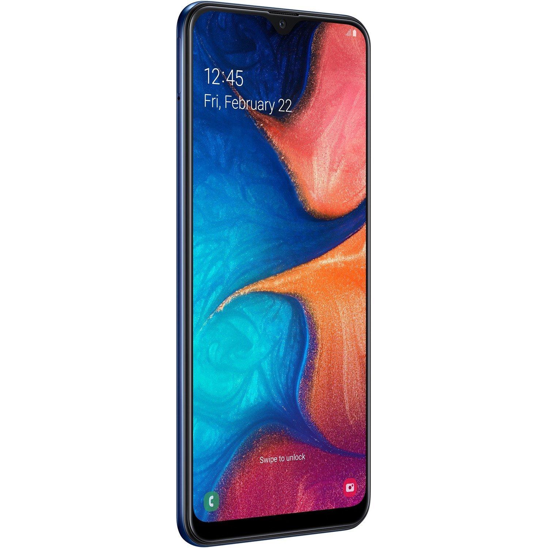 """Samsung Galaxy A20 SM-A205YN 32 GB Smartphone - 16.3 cm (6.4"""") HD+ - 3 GB RAM - Android 9.0 Pie - 4G - Blue"""