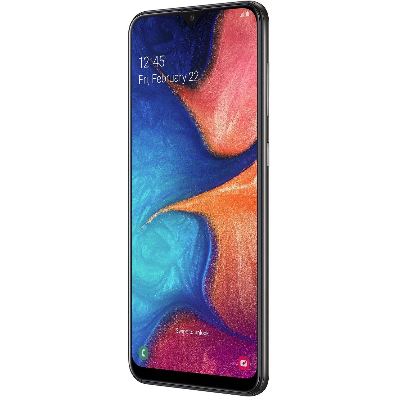 """Samsung Galaxy A20 SM-A205YN 32 GB Smartphone - 16.3 cm (6.4"""") HD+ - 3 GB RAM - Android 9.0 Pie - 4G - Black"""