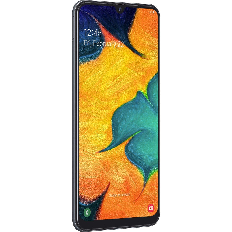 """Samsung Galaxy A30 SM-A305YN 32 GB Smartphone - 16.3 cm (6.4"""") Full HD Plus - 3 GB RAM - Android 9.0 Pie - 4G - Black"""