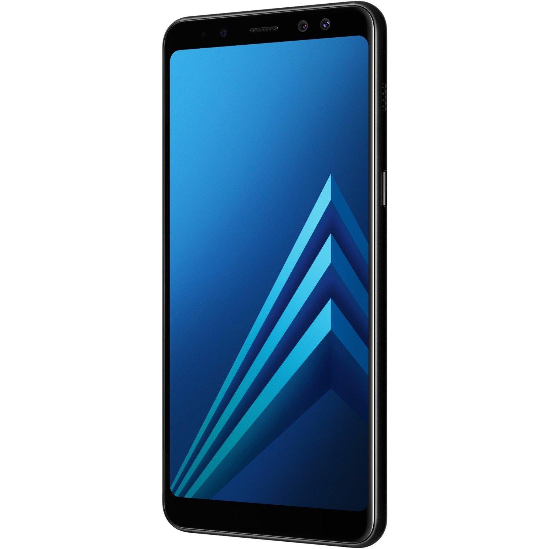 "Samsung Galaxy A8 (2018) SM-A530F 32 GB Smartphone - Black - 14.2 cm (5.6"") Super AMOLED Full HD Plus Touchscreen - 4 GB RAM - 4G - 16 Megapixel Rear/16 Megapixel Front - Android 7.1.1 Nougat - SIM-free"