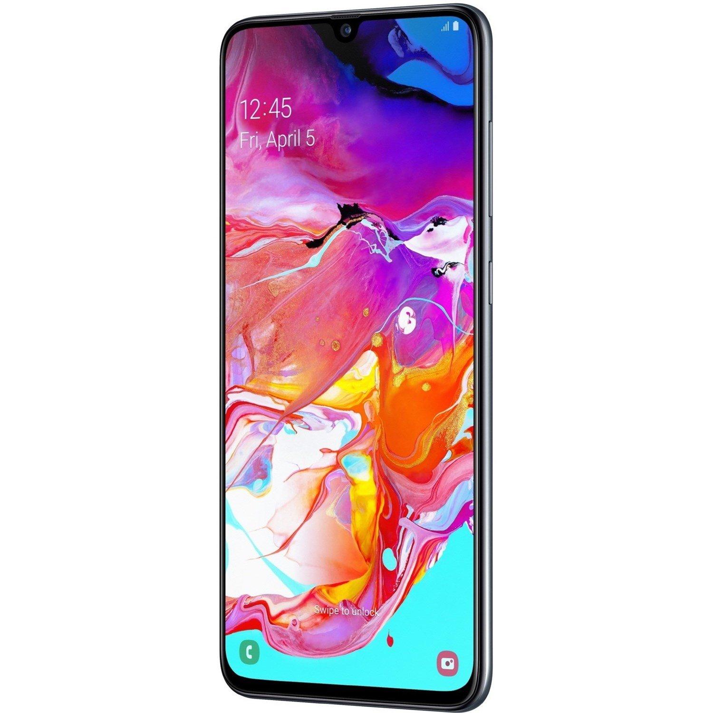 """Samsung Galaxy A70 SM-A705YN 128 GB Smartphone - 17 cm (6.7"""") Full HD Plus - 6 GB RAM - Android 9.0 Pie - 4G - Black"""