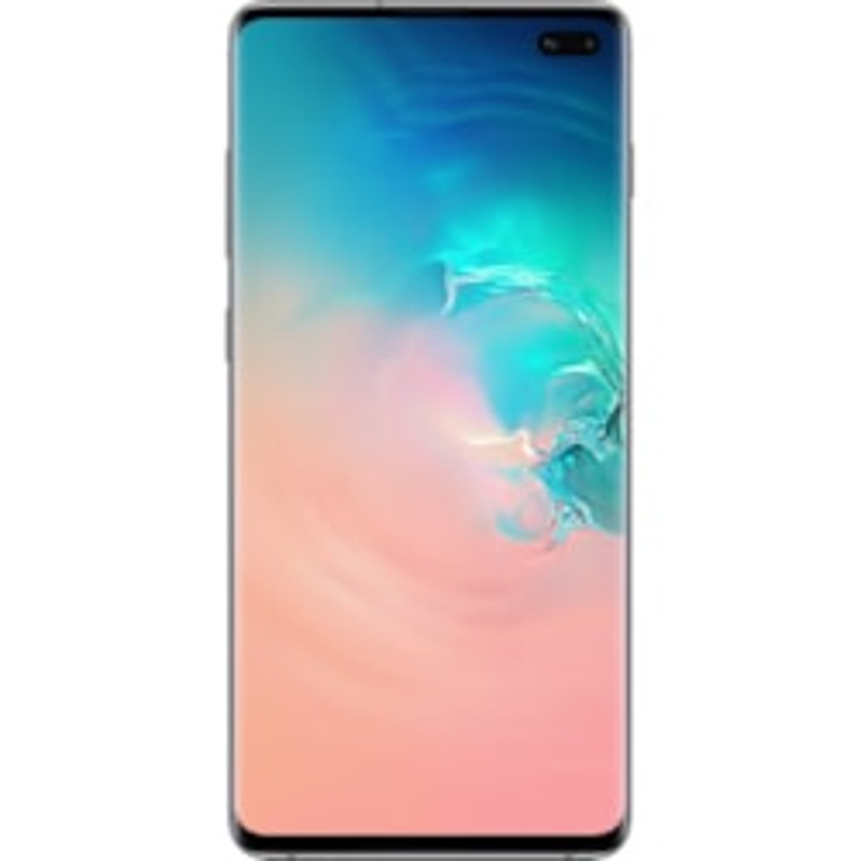"Samsung Galaxy S10+ SM-G975F 128 GB Smartphone - 16.3 cm (6.4"") QHD+ - 8 GB RAM - Android 9.0 Pie - 4G - Prism White"