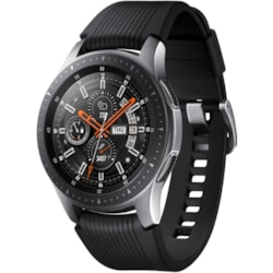 Samsung Galaxy Watch SM-R805F Smart Watch - Wrist Wearable - Silver - Silicone Band - 4G - Cellular Phone Capability - WCDMA Supported - LTE
