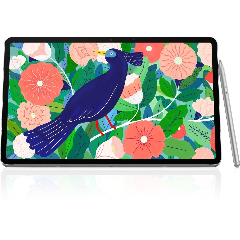 "Samsung Galaxy Tab S7 SM-T875 Tablet - 27.9 cm (11"") WQXGA - 6 GB RAM - 128 GB Storage - Android 10 - 4G - Mystic Silver"