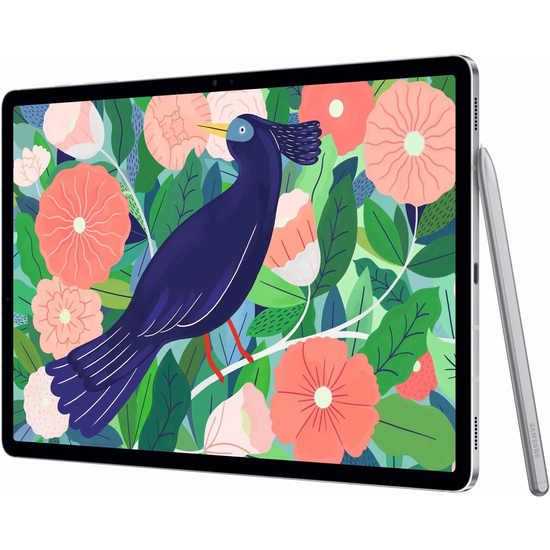 "Samsung Galaxy Tab S7+ SM-T976 Tablet - 31.5 cm (12.4"") WQXGA+ - 8 GB RAM - 256 GB Storage - Android 10 - 5G - Mystic Silver"