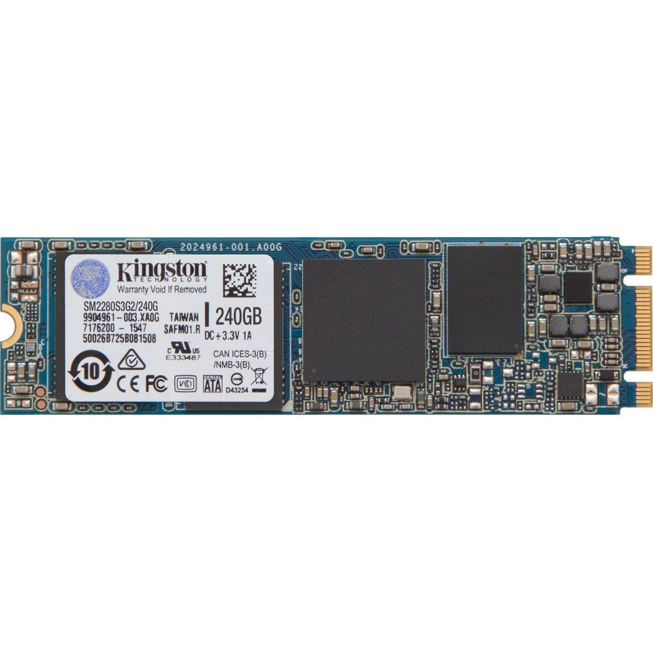 Kingston SSDNow 240 GB Solid State Drive - M.2 2280 Internal - SATA (SATA/600)