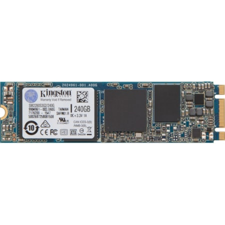 Kingston SSDNow 240 GB Solid State Drive - M.2 2280 Internal - SATA (SATA/600)