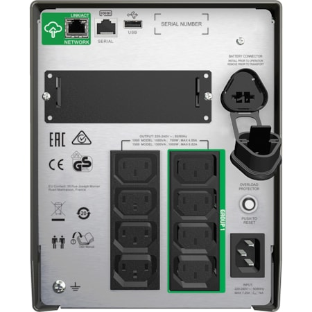 APC by Schneider Electric Smart-UPS Line-interactive UPS - 1 kVA/700 WDesktop/Tower