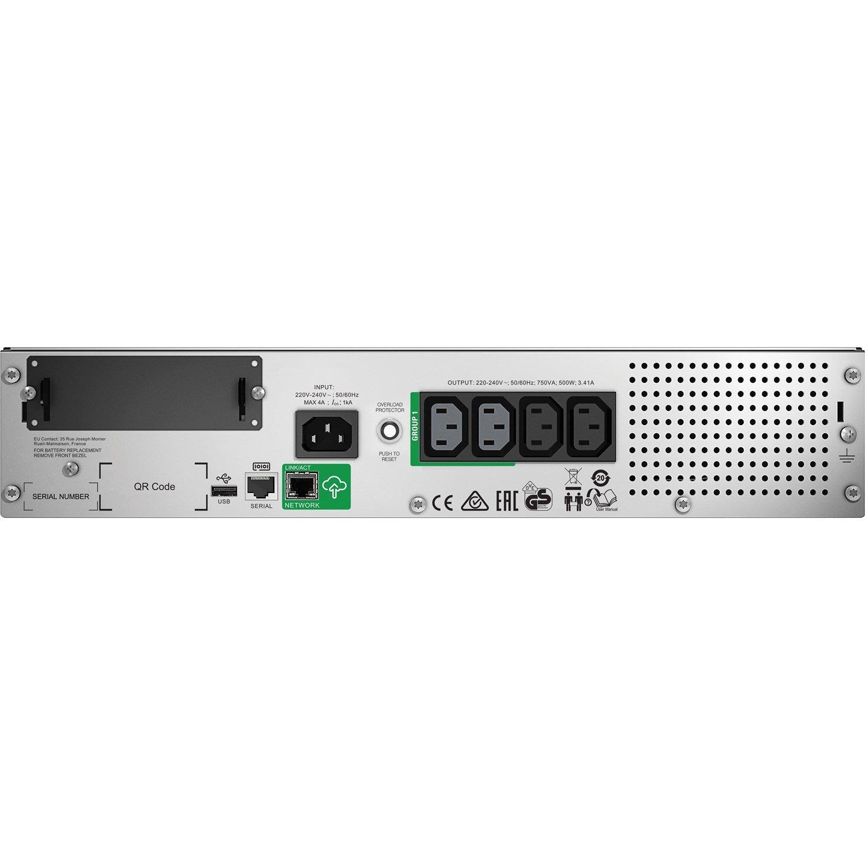 APC by Schneider Electric Smart-UPS Line-interactive UPS - 750 VA/500 W
