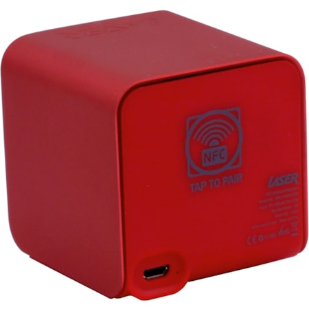 LASER Speaker System - 3 W RMS - Wireless Speaker(s) - Portable - Battery Rechargeable - Red