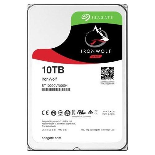 """Seagate IronWolf ST10000VN0004 10 TB Hard Drive - SATA (SATA/600) - 3.5"""" Drive - Internal"""