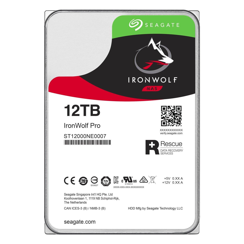 "Seagate IronWolf Pro ST12000NE0007 12 TB Hard Drive - SATA (SATA/600) - 3.5"" Drive - Internal"