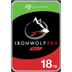 "Seagate IronWolf Pro ST18000NE000 18 TB Hard Drive - 3.5"" Internal - SATA (SATA/600)"