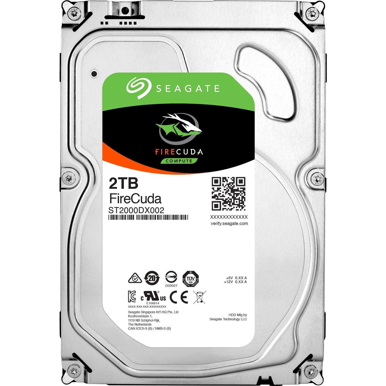 """Seagate FireCuda ST2000DX002 2 TB Hybrid Hard Drive - SATA (SATA/600) - 3.5"""" Drive - Internal"""