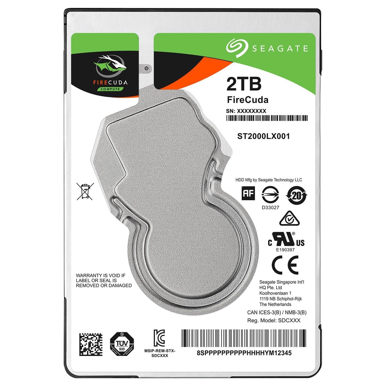 "Seagate FireCuda ST2000LX001 2 TB Hard Drive - 2.5"" Internal - SATA (SATA/600)"
