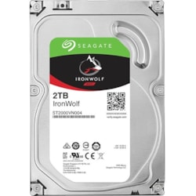 """Seagate IronWolf ST2000VN004 2 TB Hard Drive - SATA (SATA/600) - 3.5"""" Drive - Internal"""