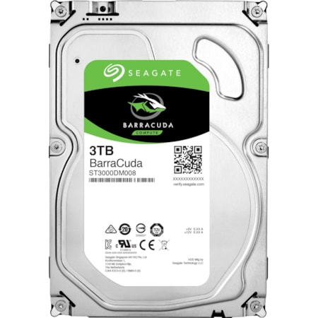 "Seagate Barracuda ST3000DM008 3 TB Hard Drive - SATA (SATA/600) - 3.5"" Drive - Internal"