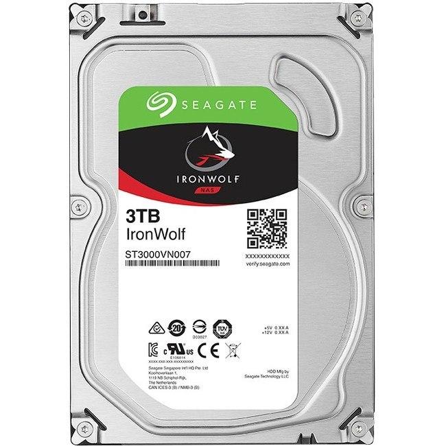 """Seagate IronWolf ST3000VN007 3 TB Hard Drive - SATA (SATA/600) - 3.5"""" Drive - Internal"""