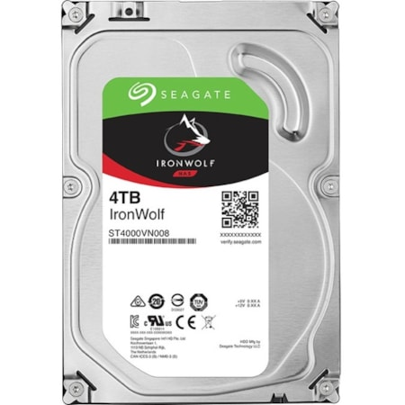 "Seagate IronWolf ST4000VN008 4 TB Hard Drive - 3.5"" Internal - SATA (SATA/600)"