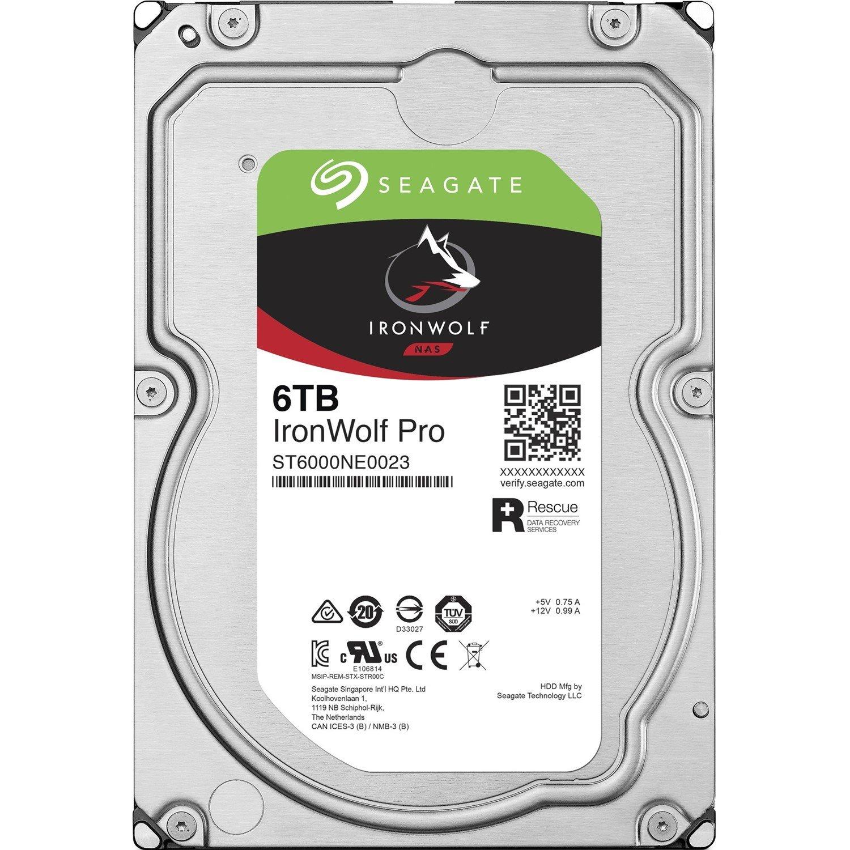 "Seagate IronWolf Pro ST6000NE0023 6 TB Hard Drive - 3.5"" Internal - SATA (SATA/600)"