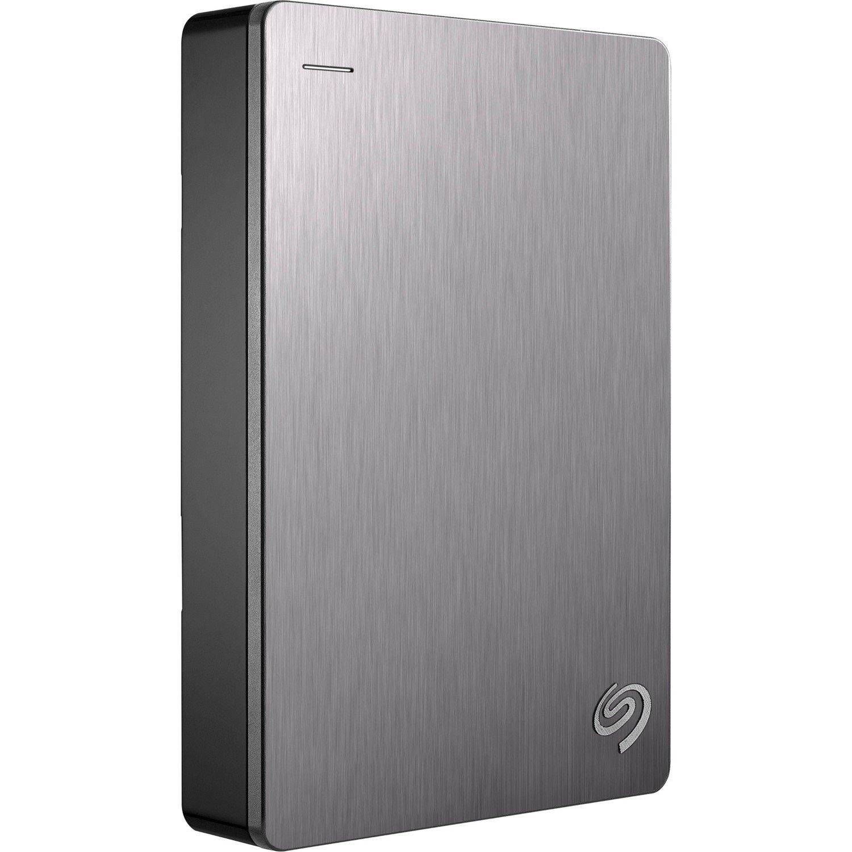"Seagate Backup Plus STDR5000301 5 TB Portable Hard Drive - 2.5"" External - Silver"