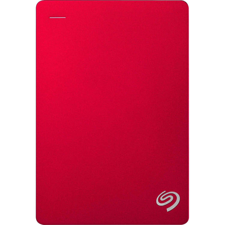 "Seagate Backup Plus STDR5000303 5 TB Hard Drive - 2.5"" Drive - External - Portable - Red"