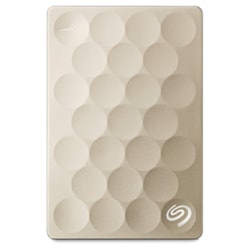 Seagate Backup Plus Ultra Slim STEH1000301 1 TB Portable Hard Drive - External - Gold