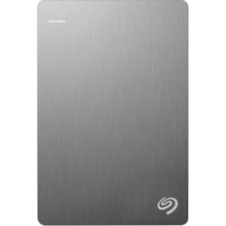 Seagate Backup Plus Slim STHN1000401 1 TB Hard Drive - External - Portable - Silver