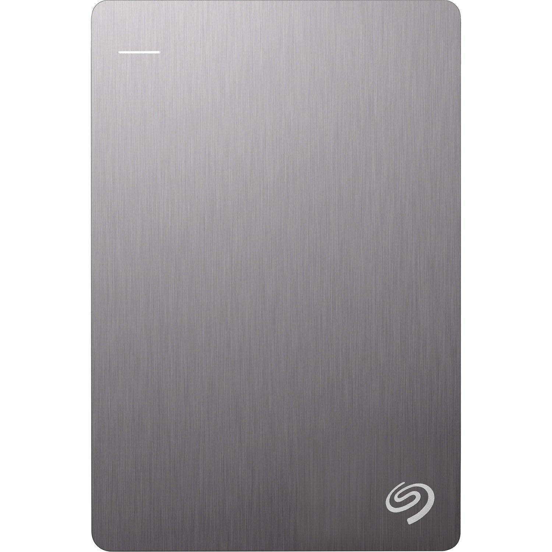 "Seagate Backup Plus Slim STHN1000401 1 TB Portable Hard Drive - 2.5"" External - Silver"