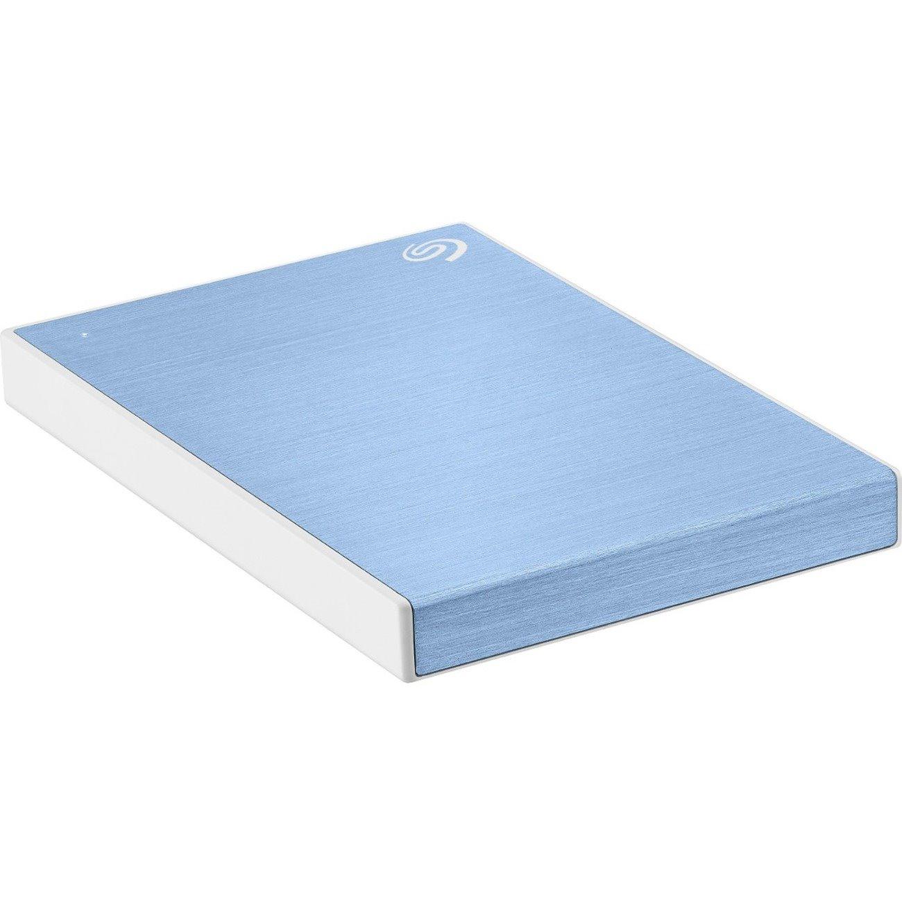Seagate Backup Plus Slim STHN1000402 1 TB Portable Hard Drive - External - Light Blue