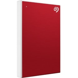 "Seagate Backup Plus Slim STHN1000403 1 TB Portable Hard Drive - 2.5"" External - Red"
