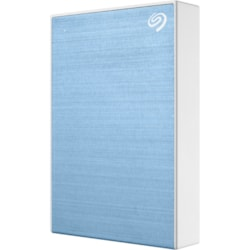 "Seagate Backup Plus Portable STHP5000402 5 TB Hard Drive - 2.5"" Drive - External - Portable - Light Blue"
