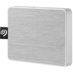 Seagate One Touch STJE1000402 1 TB Portable Solid State Drive - External - White