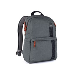 "STM Goods Banks Carrying Case (Backpack) for 38.1 cm (15"") Notebook - Tornado Gray"
