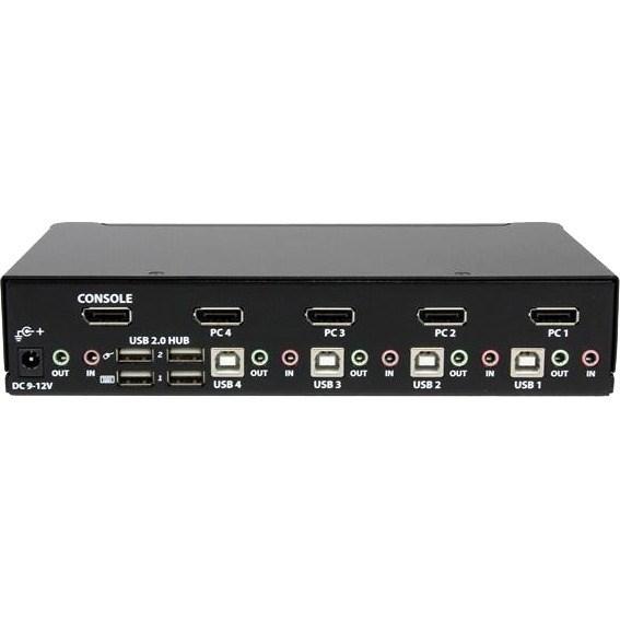 StarTech.com 4 Port USB DisplayPort KVM Switch with Audio