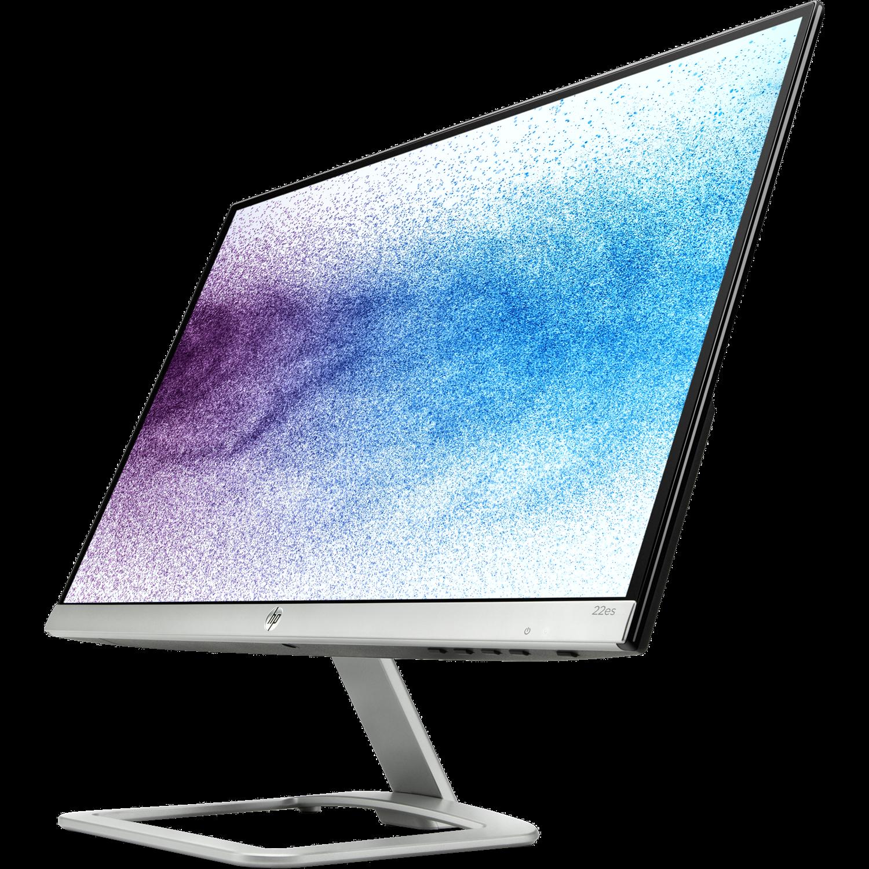 "HP Home 22es 54.6 cm (21.5"") Full HD LED LCD Monitor - 16:9 - Natural Silver, Black"