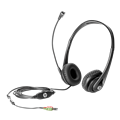 HP Business v2 Wired 27.94 mm Stereo Headset - Over-the-head - Circumaural - Black