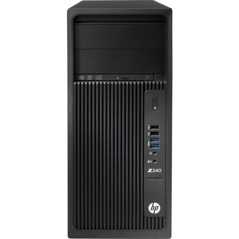 HP Z240 Workstation - 1 x Intel Core i7 (6th Gen) i7-6700 Quad-core (4 Core) 3.40 GHz - 8 GB DDR4 SDRAM - 1 TB HDD - NVIDIA Quadro K620 2 GB Graphics - Windows 7 Professional 64-bit upgradable to Windows 10 Pro - Tower - Black