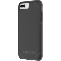 Griffin Survivor Strong Case for iPhone 8, iPhone 7, iPhone 6S, iPhone 6 - Black, Deep Gray