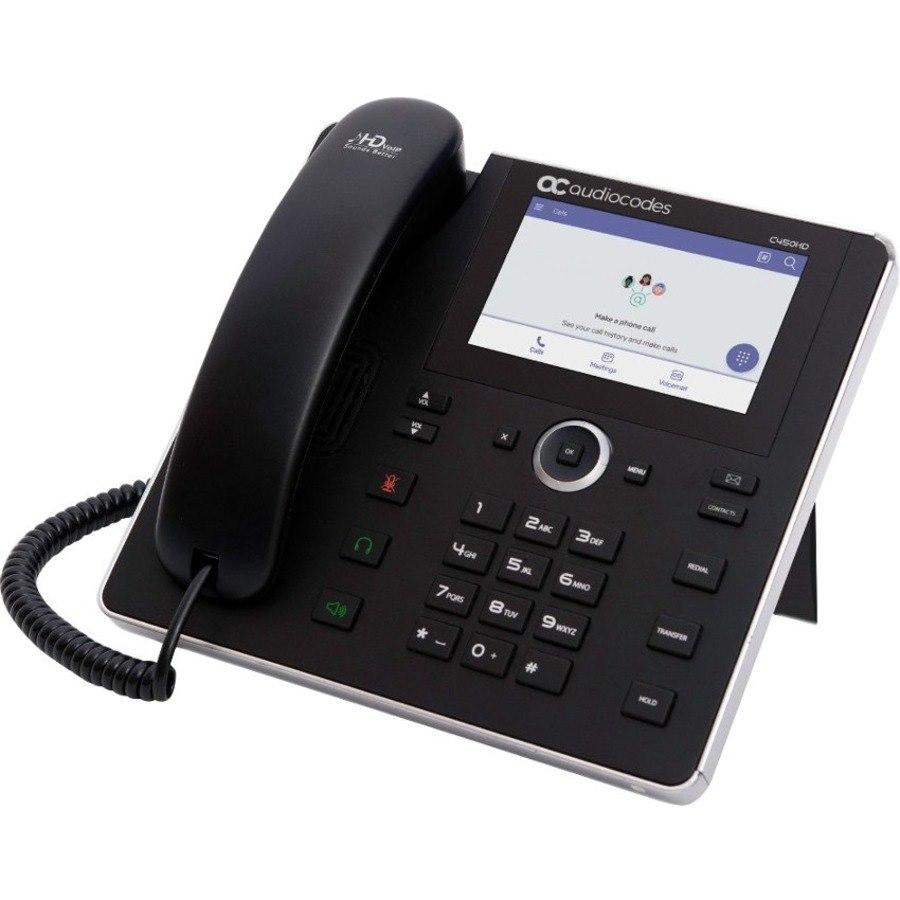 AudioCodes TEAMS-C450HD IP Phone - Corded - Corded - Bluetooth - Desktop - Black