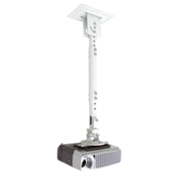 Atdec TH-WH-PJ-CM Ceiling Mount for Projector - White, Silver