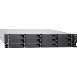 QNAP Turbo NAS TS-1273U-RP 12 x Total Bays SAN/NAS Storage System - 512 MB Flash Memory Capacity - AMD R-Series Quad-core (4 Core) 2.10 GHz - 8 GB RAM - DDR4 SDRAM - 2U Rack-mountable