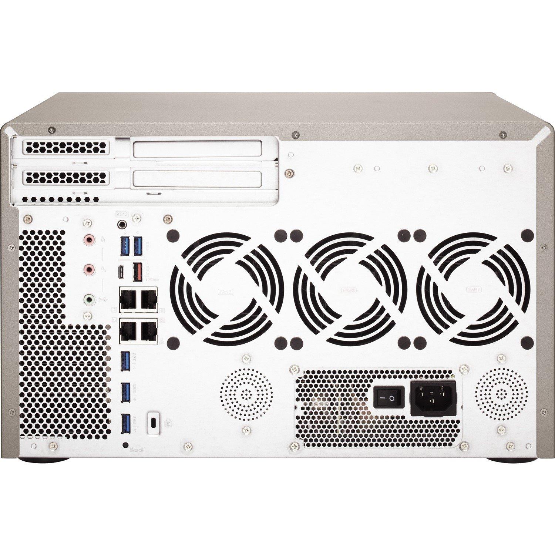 QNAP TS-1277 12 x Total Bays SAN/NAS Storage System - 512 MB Flash Memory Capacity - AMD Ryzen 7 Octa-core (8 Core) 3 GHz - 16 GB RAM - DDR4 SDRAM Tower