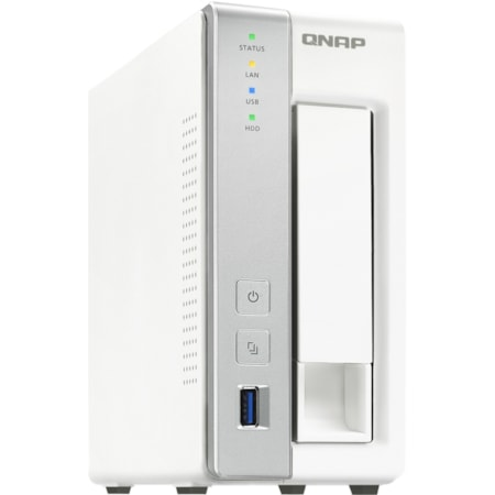 QNAP Turbo NAS TS-131P 1 x Total Bays SAN/NAS Storage System - Annapurna Labs Alpine Dual-core (2 Core) 1.70 GHz - 1 GB RAM - DDR3 SDRAM Tower